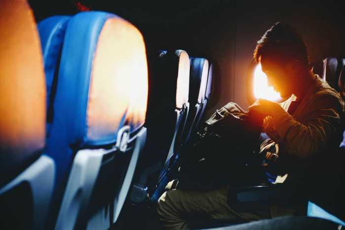 Man Sitting Plane